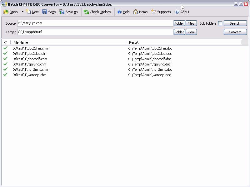 Batch CHM to Word Converter