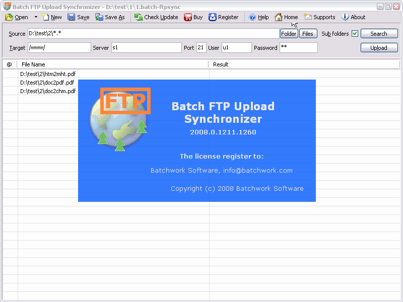 Batch File FTP Sync Uploader