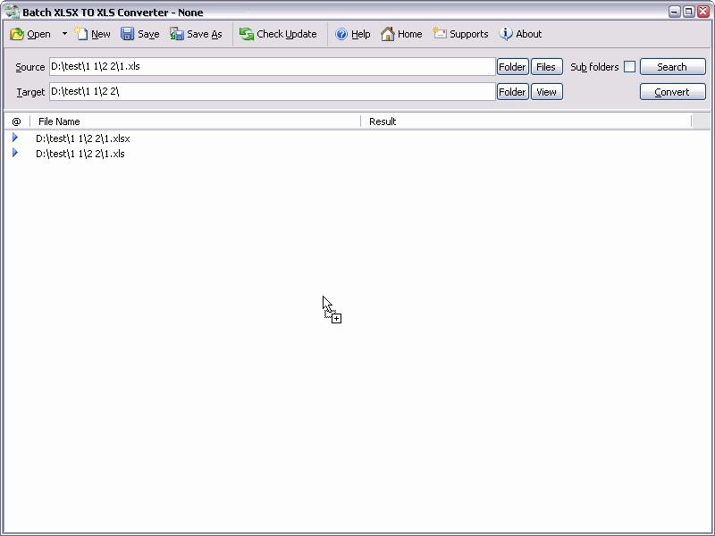 Batch XLS and XLSX Converter